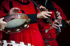 中世纪音乐家 库存照片