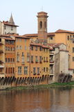 中世纪风景在佛罗伦萨 库存照片