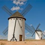 中世纪风车 库存照片