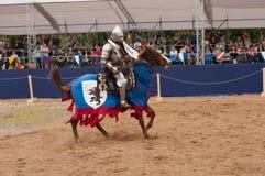 中世纪马上枪术比赛 免版税库存照片