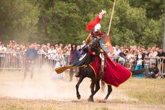 中世纪马上枪术比赛 免版税图库摄影