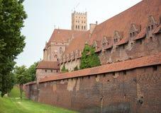 中世纪马尔堡城堡 库存照片