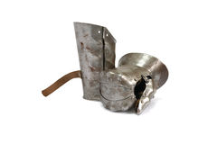 中世纪骑士手套 免版税图库摄影