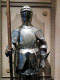 中世纪骑士的特写镜头 免版税库存照片