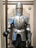 中世纪骑士的特写镜头 库存照片