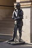 中世纪骑士雕塑  免版税库存图片