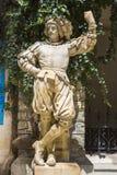 中世纪骑士雕象 免版税库存照片