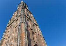 中世纪高耸Onze辛迪里夫Vrouwetoren在阿莫斯福特 库存图片