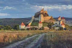 中世纪鲁佩亚城堡,罗马尼亚 免版税库存图片