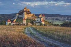 中世纪鲁佩亚城堡,罗马尼亚 库存照片