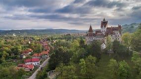 中世纪麸皮城堡 布拉索夫特兰西瓦尼亚,罗马尼亚 免版税图库摄影