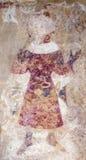 中世纪绘画墙壁 库存图片