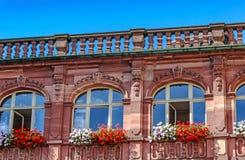 中世纪1900年- 1908新巴洛克式的老城镇厅在法兰克福,德国 库存图片