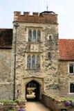 中世纪16个房子的庄园 免版税库存图片