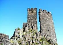 中世纪2座城堡的hazmburk 免版税库存照片