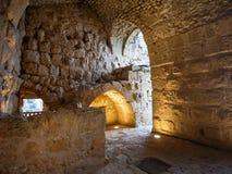 中世纪Ajlun城堡内部在约旦 库存照片