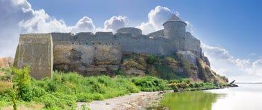 中世纪Akkerman堡垒,乌克兰的北墙壁 免版税库存照片