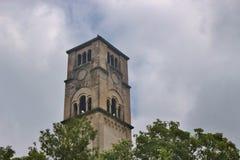 中世纪Captain's塔在比哈奇,波黑 库存照片