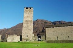 中世纪castelgrande的城堡 库存照片
