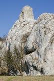 中世纪Divci hrad城堡,捷克共和国废墟  库存图片