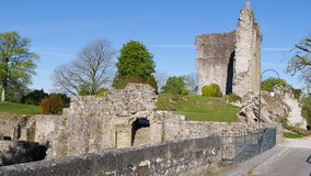 中世纪Domfront奥恩法国欧洲 库存照片