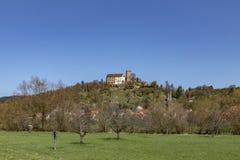 中世纪Gamburg在蓝天下 免版税库存照片