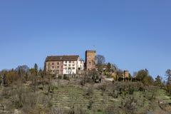 中世纪Gamburg在蓝天下 库存图片