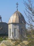 中世纪Iverian教会在Feodosia,克里米亚 免版税库存图片
