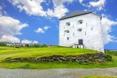 中世纪Kristiansten堡垒在特隆赫姆 挪威 免版税库存照片