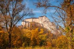 中世纪Orava城堡 库存图片
