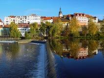 中世纪pisek城镇 库存图片