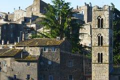 中世纪ronciglione村庄 免版税库存图片