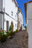 中世纪Sephardic犹太教堂(第13/14世纪)在Castelo de Vide 库存照片