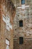 中世纪Sigismondo墙壁在R防御(Castello Sidzhizmondo) 图库摄影
