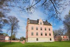 中世纪Skanelaholms宫殿的外部在Rosersberg,瑞典 图库摄影