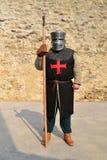 中世纪templar战士 免版税库存图片