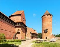 中世纪Turaida城堡博物馆废墟在拉脱维亚 库存照片