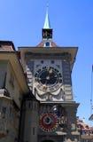 中世纪Zytglogge钟楼在伯尔尼,瑞士 免版税图库摄影