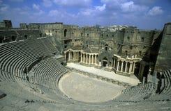 中东叙利亚布斯拉废墟 库存图片