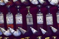 中东古色古香的Khanjar  库存图片