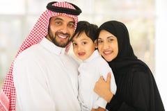 中东家庭 库存照片