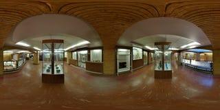 中东考古学文化博物馆画廊在伊朗-广角膨胀的看法 免版税库存图片