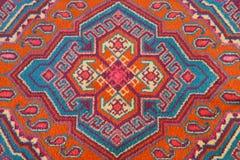 中亚地毯的装饰品 免版税库存图片