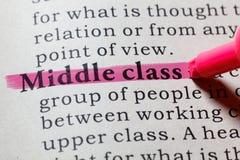中产阶级的定义 免版税库存照片