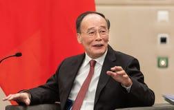 中华民国王岐山的副总统 免版税库存照片