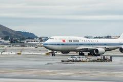 中华航空公司波音飞机 库存图片