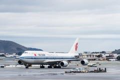 中华航空公司波音飞机 免版税库存照片