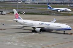 中华航空公司空中客车A330-300飞机 库存照片