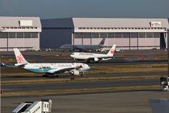 中华航空公司离开 库存图片