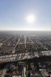 中南部的洛杉矶110高速公路天线 免版税库存图片
